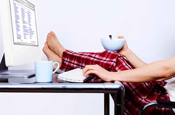 Resultado de imagem para trabalhar de pijama