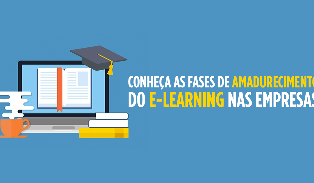 Fases de maturidade do e-learning corporativo.