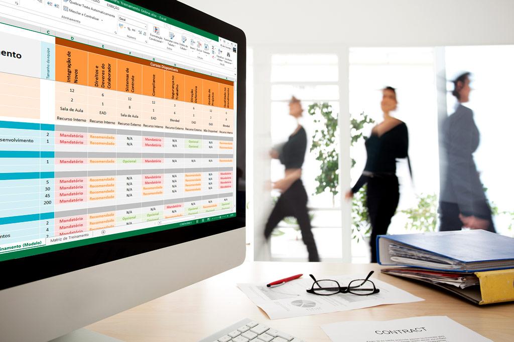 Modelo em Excel para montar sua Matriz de Treinamento.
